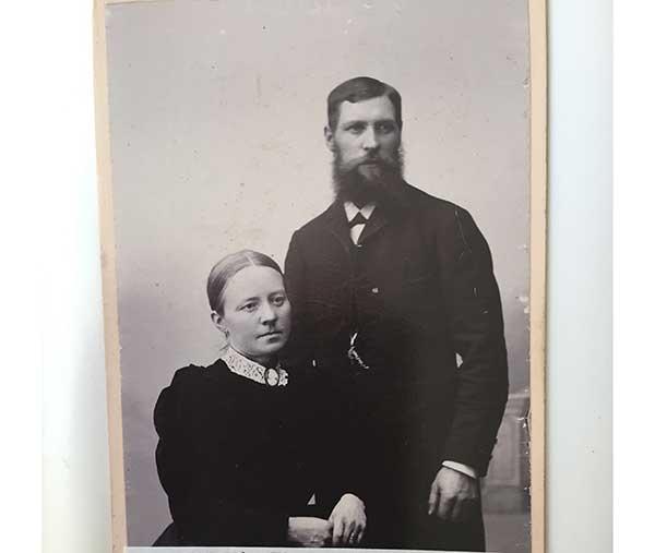 Clara Leontina Frykholm och maken Olof Johansson.
